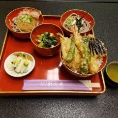 ランチメニュー(天丼セット)